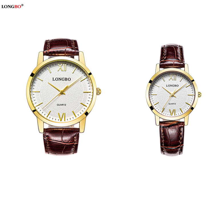 LONGBO 80243 King Quartz Chronograph Unisex Watch Cheap Custom Leather Band Watch