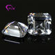 CZ Wedding Ring Sets White Square Shape Asscher Zircon For Stone Crafts