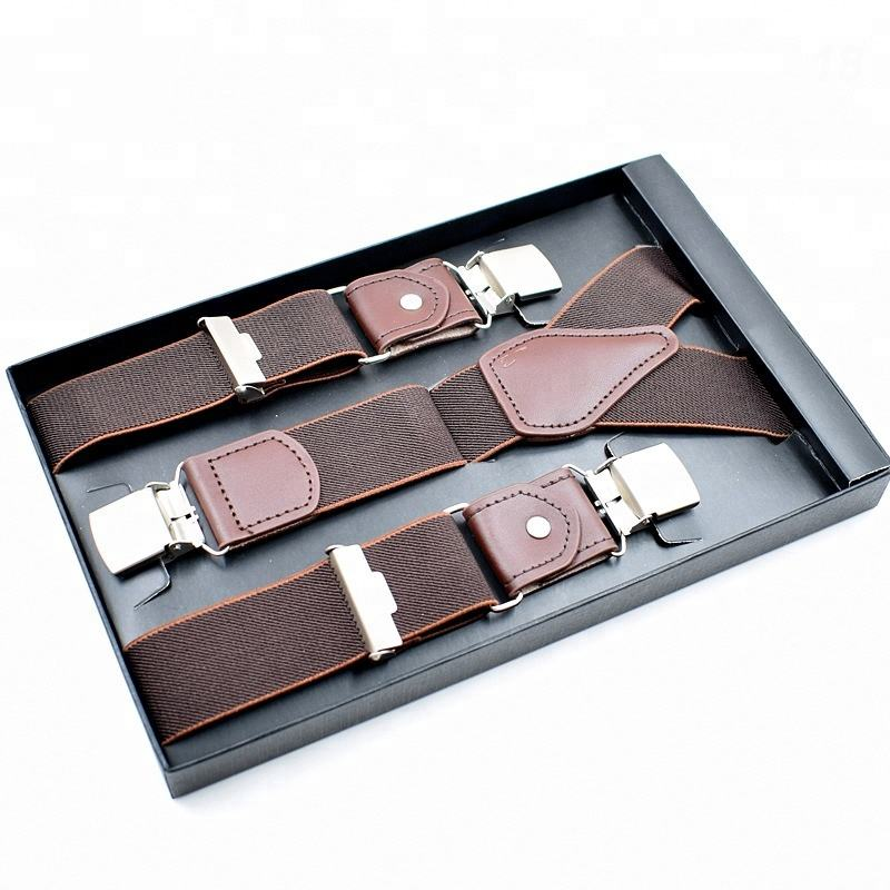 Classic Y Shaped Genuine Leather Men 교정기 와 Extra Strong Clips