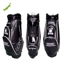 Custom PU Leather 10 Way Divider PGA Golf Cart Bag with Shoe Compartment