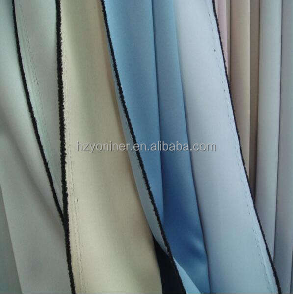 Flame Retardant Full Dull Blackout Curtain Fabric for Hotel Projects