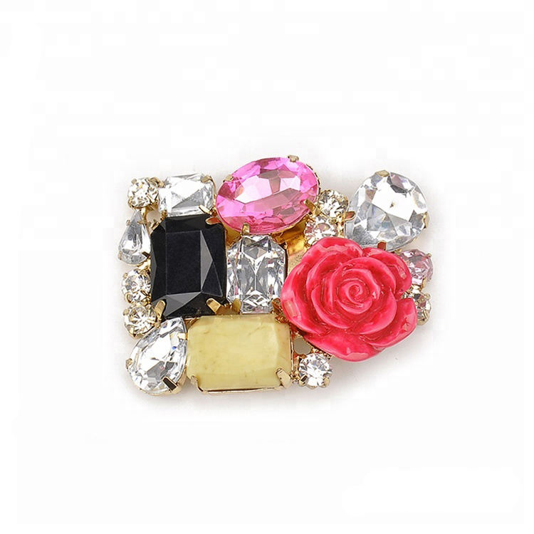 hw6243 Fashion Flat Shoe Accessory Shoe Flower Clip