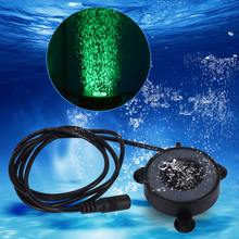 Hot Underwater Round Fish Tank Lamp Waterproof 6 LED Air Bubbles Aquarium Submersible Light Colorful Fishbowl Lights US EU Plug