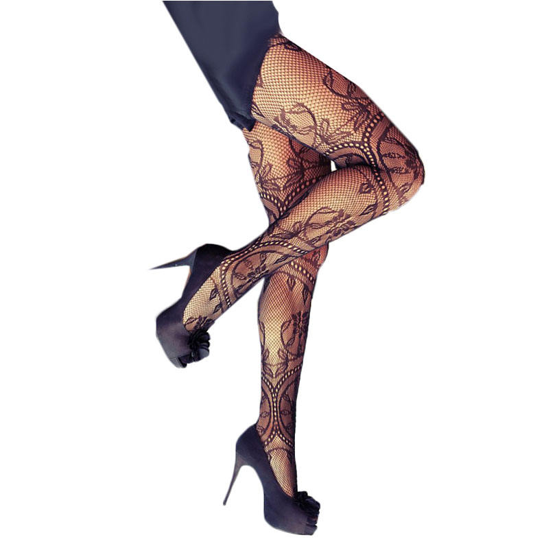 Sexy Charming Floral Pattern Fishnet Pantyhose