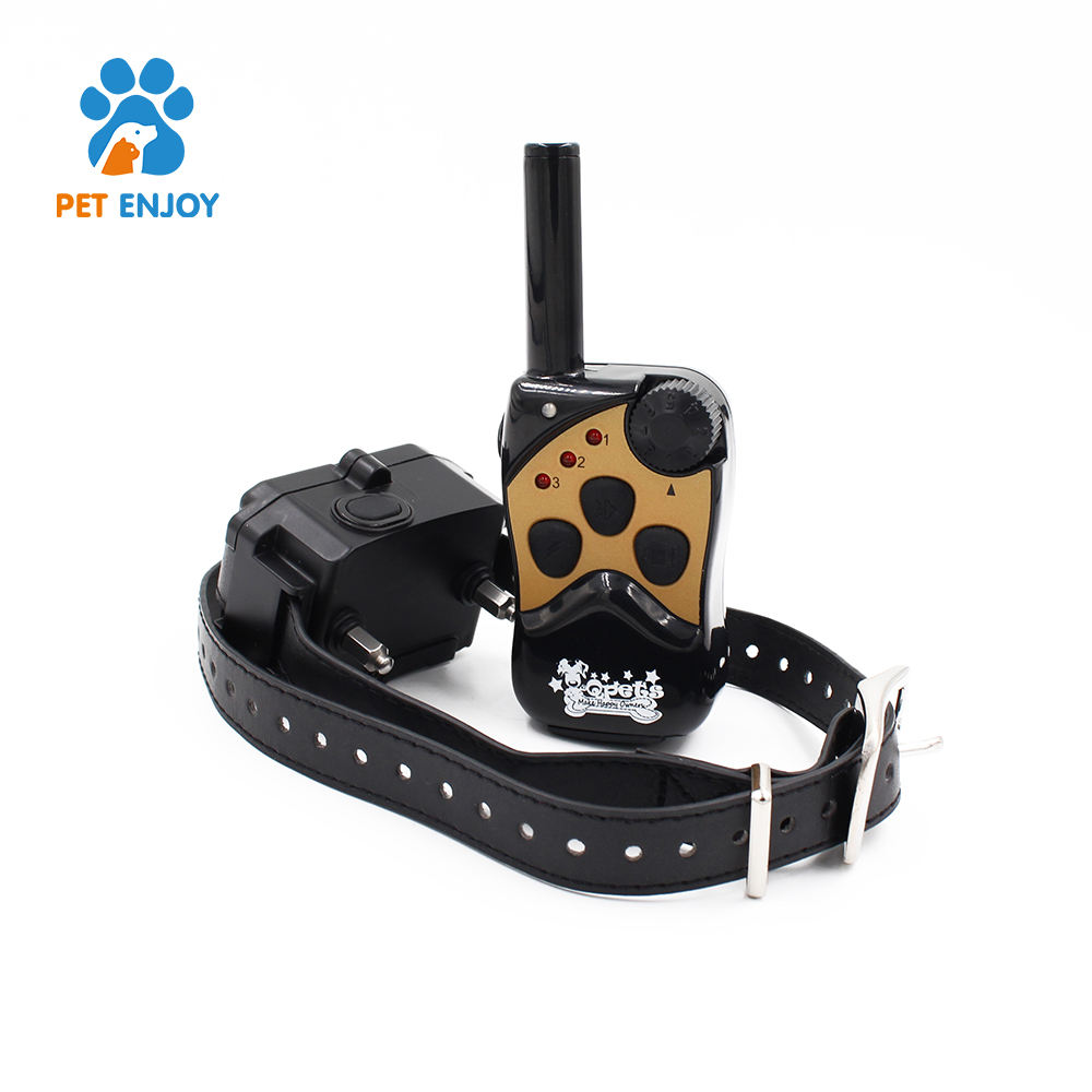 2018 remote dog training collar 300 meter control distance totally waterproof and rechargeable 8 levels of static and vibration