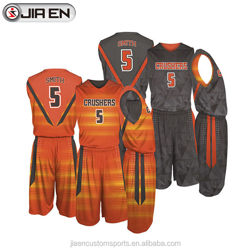 Cheap custom sublimated reversible best basketball jersey design wholesale latest basketball jersey