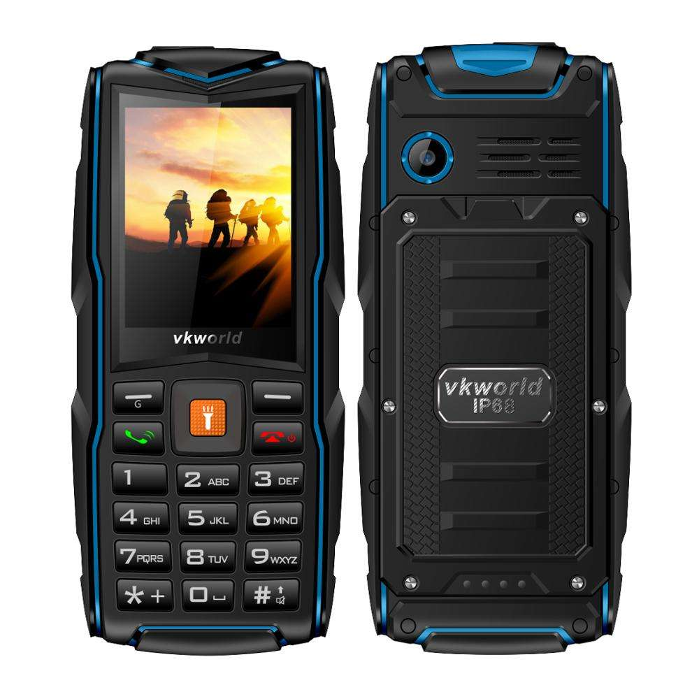 VKWORLD New Stone V3 2.4インチBig Memory 64 + 64MB Big Sound Triple SIM IP68 Waterproof Rugged Outdoor Mobile Phone