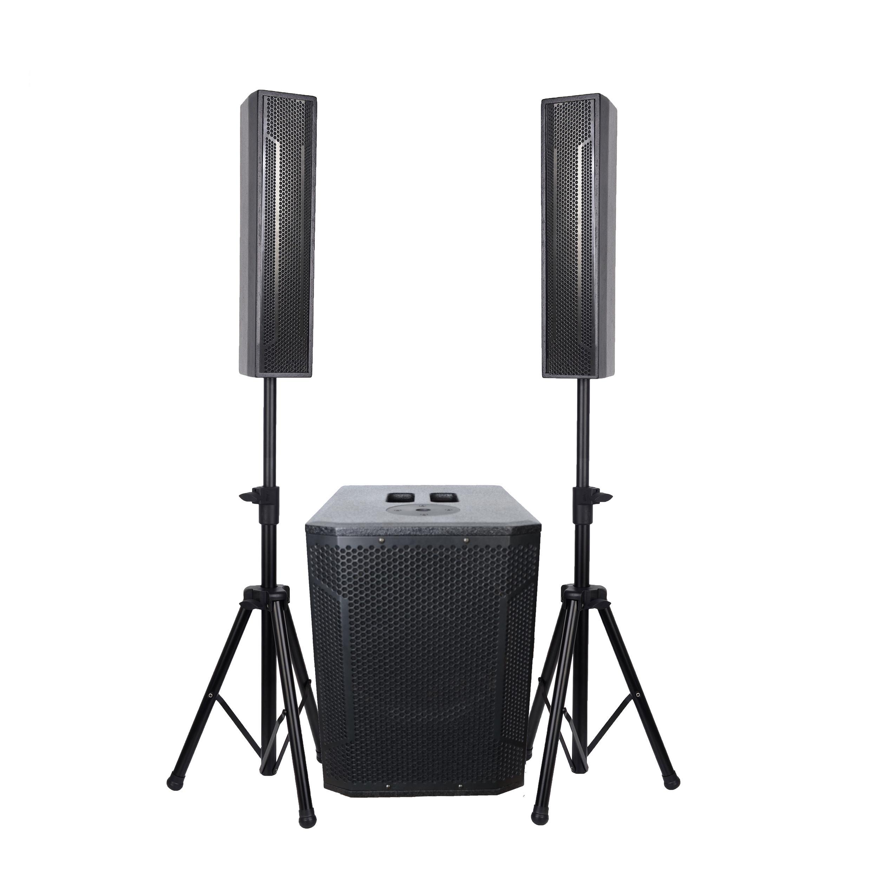 RQSONIC WI312ADUSB-BT Professional Audio Active 400W Column Speaker Powered Portable Live Sound System