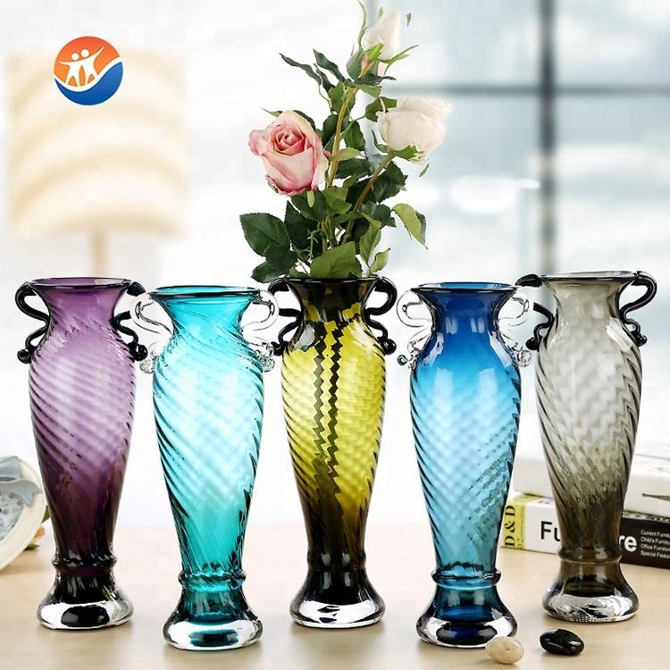 most popular mermaid shape color decorative glass flower vase