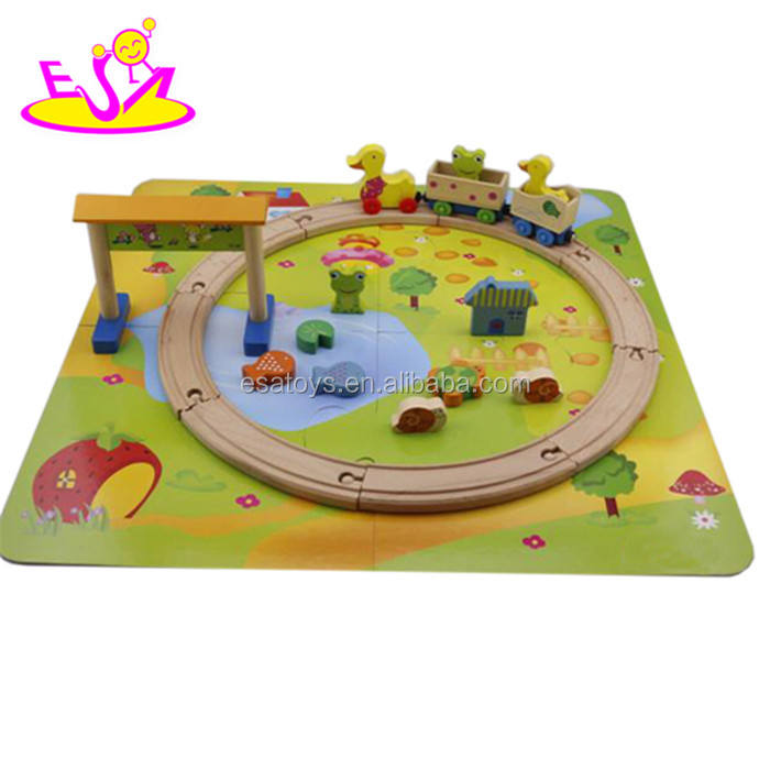 Funny model wooden classic toy train for kids W04C012