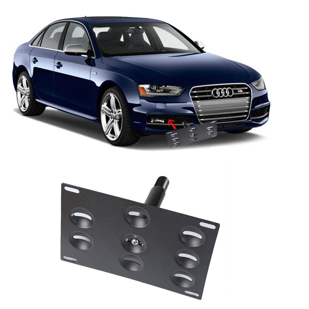 Bumper <span class=keywords><strong>Tow</strong></span> Hook License Plate Mounting Bracket Pemegang untuk Audi A4 A5 S4 S5 RS5