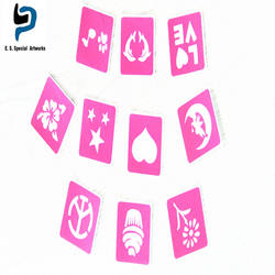 2017 custom logo private label easy to use different shaped die cut stencil