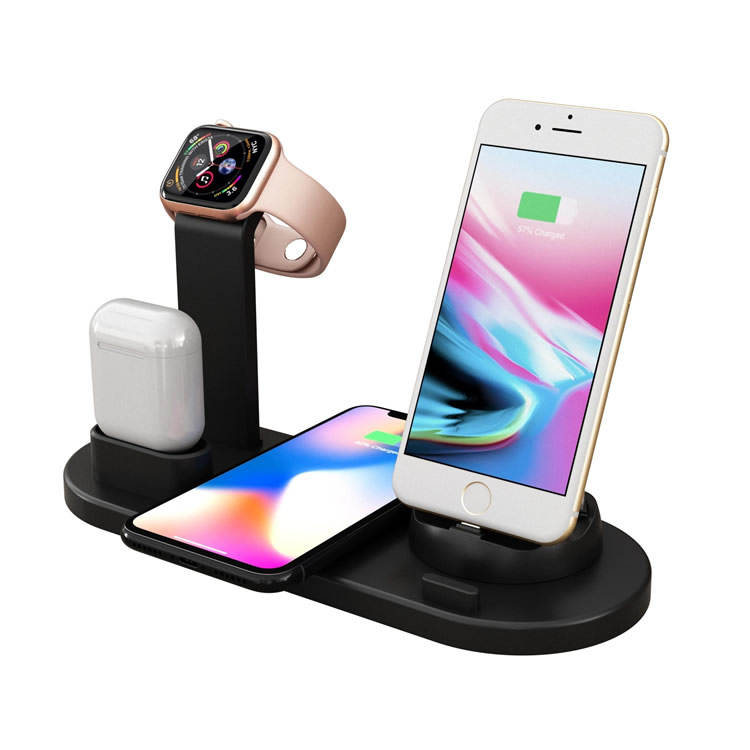 3 in 1 wireless smartphone stazione di ricarica per iPhone, iwatch, e airpods