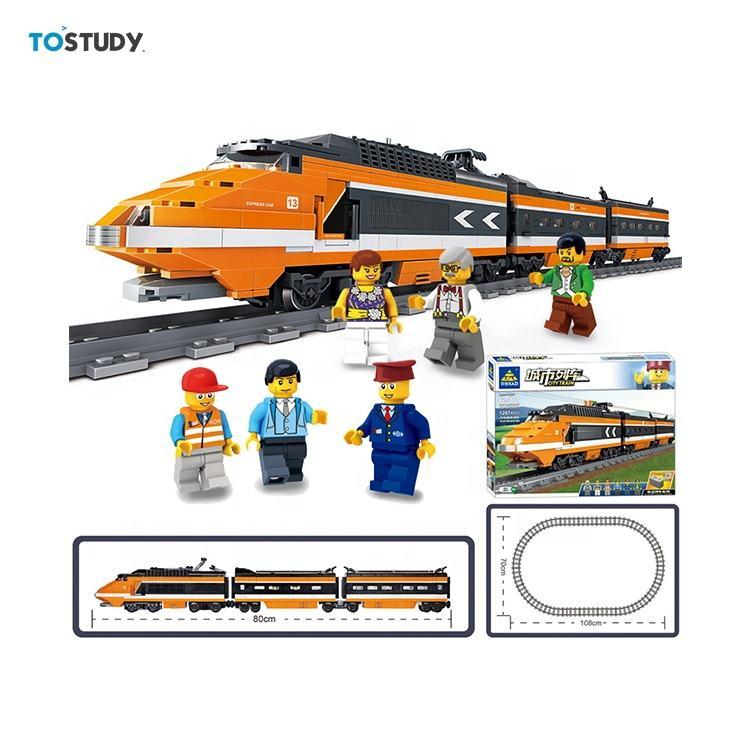 New products Legos electric Train Track Children'S Assembled kazi educational buildings blocks for 2020 kid gift wholesale