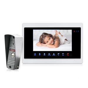 Best Home Surveillance Cameras 10.1 inch LCD Video Interphone Screen with Multi-language OSD Manu