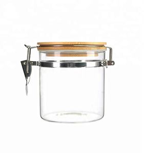 550ml/900ml/1200ml fancy clear food packaging storage glass garlic storage jar round jars for kitchen