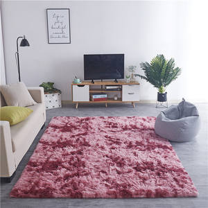 Super Soft Indoor Modern Shag Area Silky Smooth Fur Rugs gradient Fluffy Rugs Anti-Skid Shaggy living room coffee table Area Rug