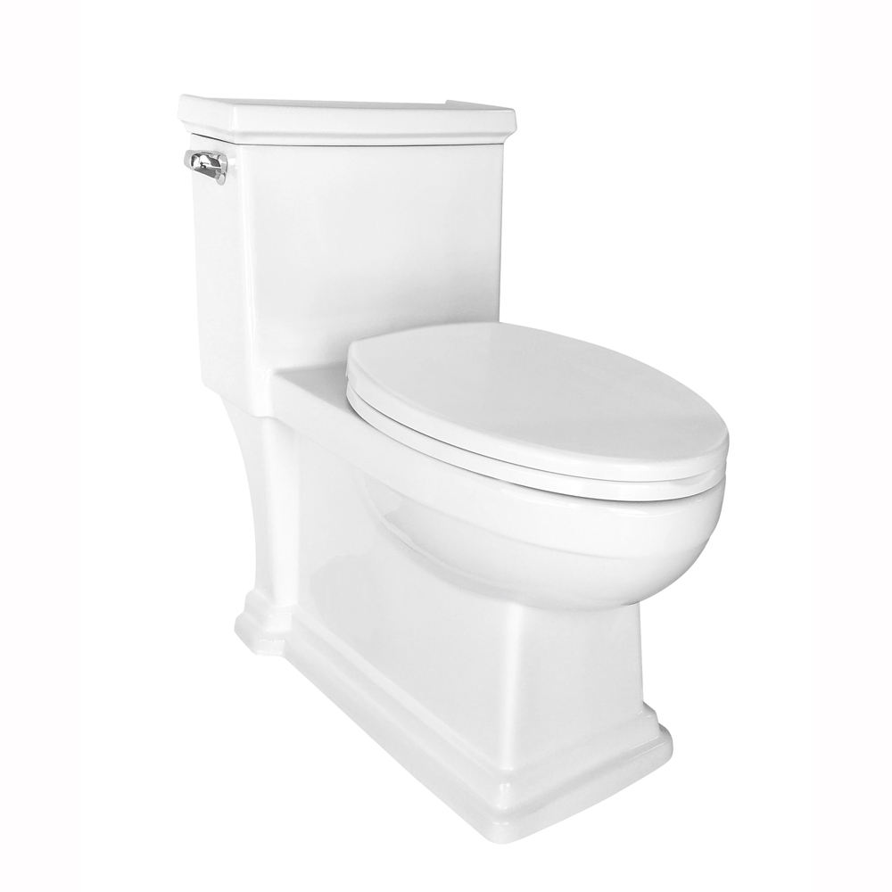 Elongate Standard of American S-Trap Floor Mounted One Piece Toilets