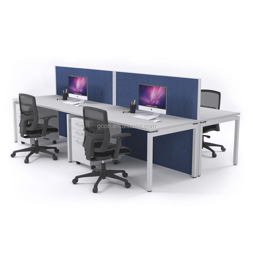 Modulaire bureau, 6 persoon kantoor partitie, 4 seat office workstation