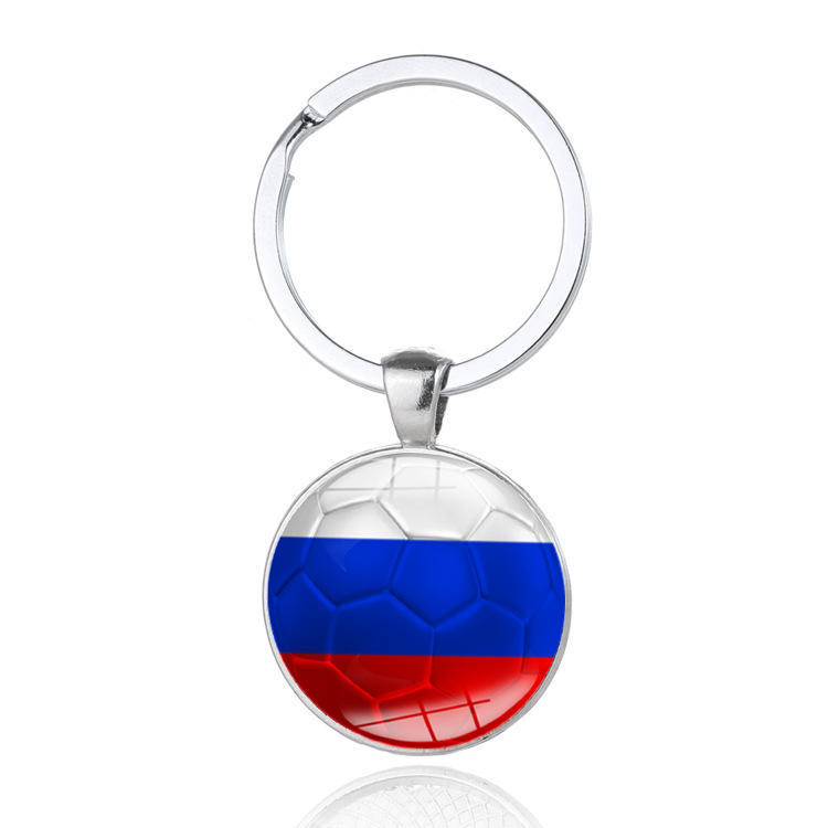 2018 World Cup Theme Football Keychain National flag keychain Pendant