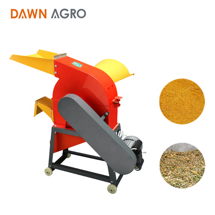 DAWN AGRO Animal Feed Chaff Cutter Maize Pulverizer Machine Crusher Straw Forage Chopper Machinery for Home Use
