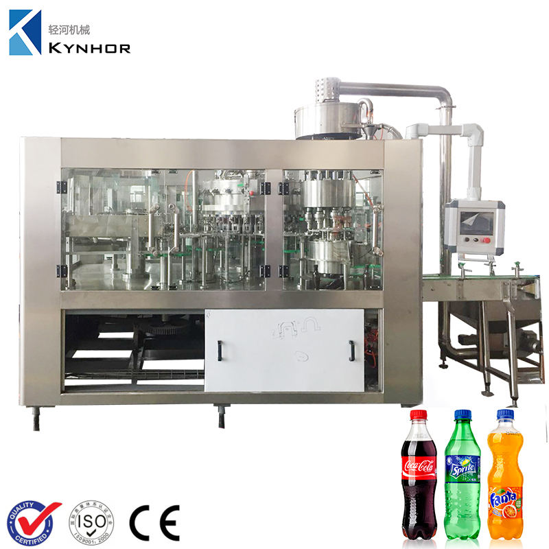 PET / Glass Bottle Carbonated Drinks Filling Machine / Machinery to Make Soft Beverage
