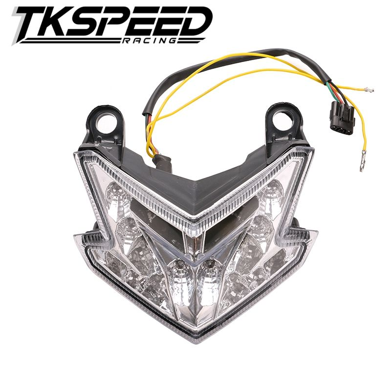 Smoked Motorcycle LED Tail Light For Kawasaki ZX6R//636 2003-04 Z750//1000 2003-06