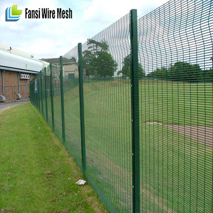 with the optional additions of Barbwire, Razor wire, or EDS (Electric Detection System)Corromesh 358 Industrial fence panel