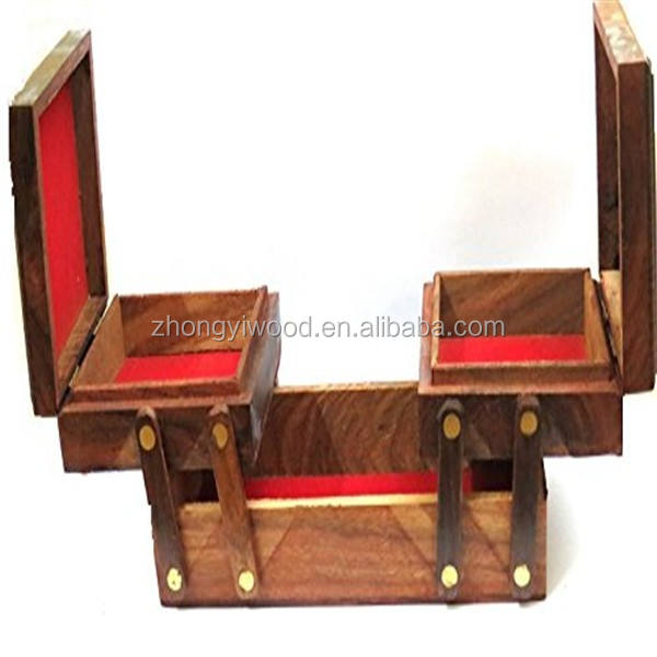 2020 new style wholesale handmade wooden jewelry boxes with drawers or compartments