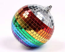 2020 mini christmas decoration rainbow disco mirror balls