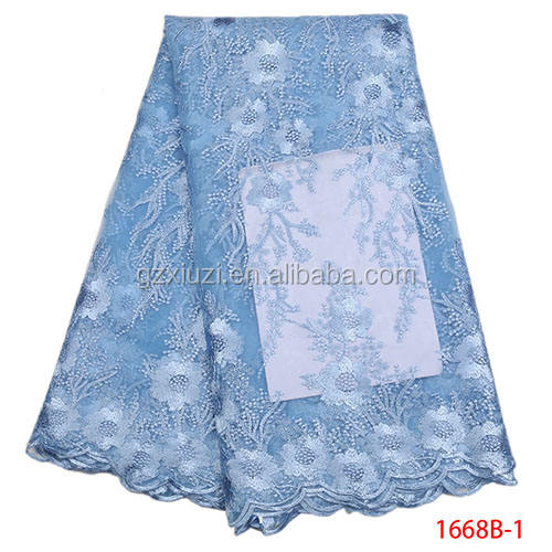 Fast Selling African Lace Fabric Women Bridal Lace Fabric For Asoebi XZ1668B