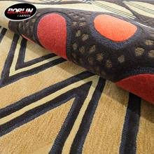 Hot Sale Moquette 100% Wool Carpet Interesting Pattern Large Floor Rug