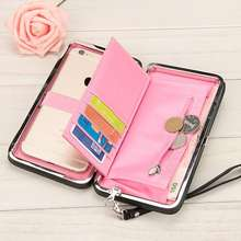 Wallet Credit Card Holder Clutch Coin Purse Cellphone Pocket for Women Phone Wallet Lady Multifunction Wallets