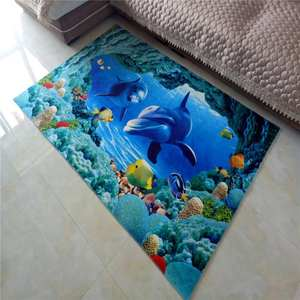 Beautiful Eco-friendly Soft Fireretarded PVC printing Door Mat