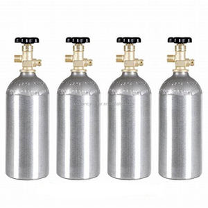 5lbs/3.34L mini CO2 aluminium cilinder CO2 gas cilinder met CGA320 Klep