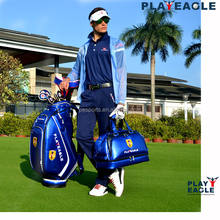 PLAYEAGLE Crystal PU Leather Golf Caddy Bag  Golf Cart Bag And Boston Bag