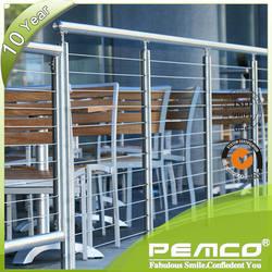 Stainless steel stair railing balustrades handrails