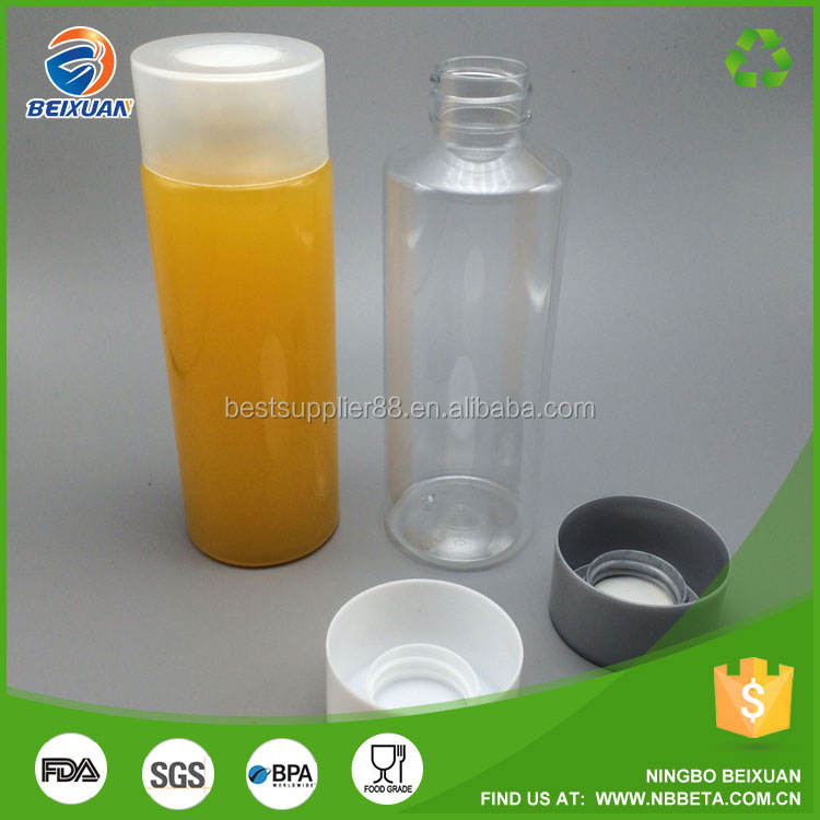 Custom packaging 250ml plastic water bottle with voss cap for mineral water