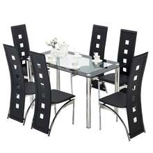cheap free sample modern furniture stainless steel dining set creative restaurant group 6/8/10/12 seater glass dining table set