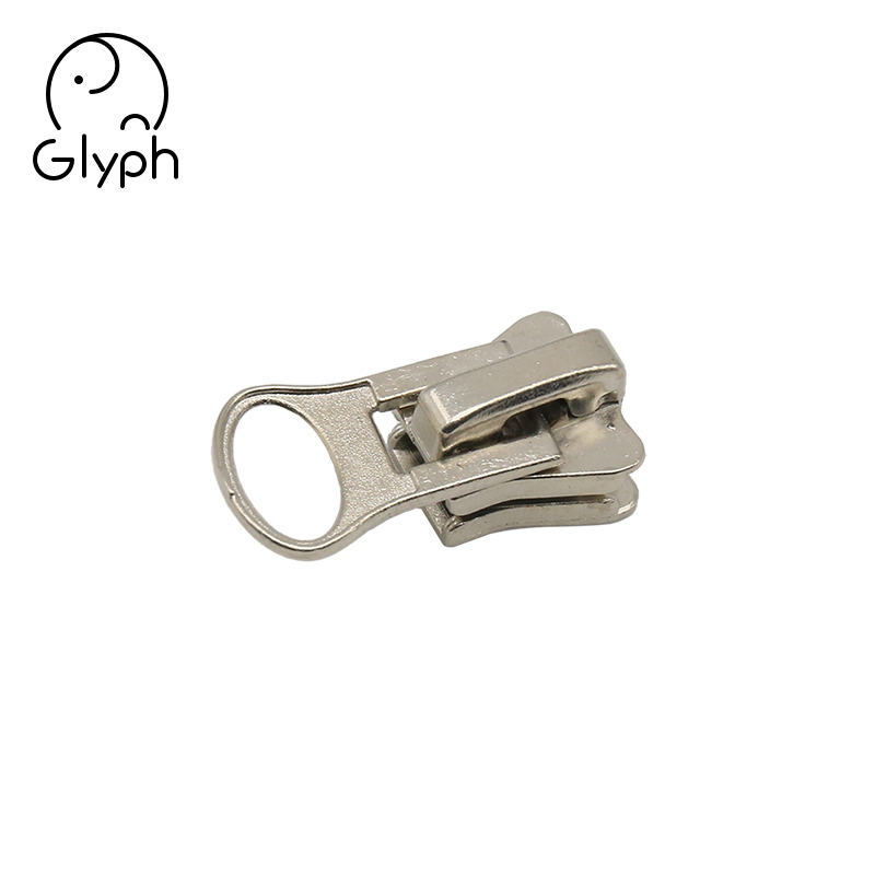 Custom metal zipper pull puller zipper slider for handbags coats