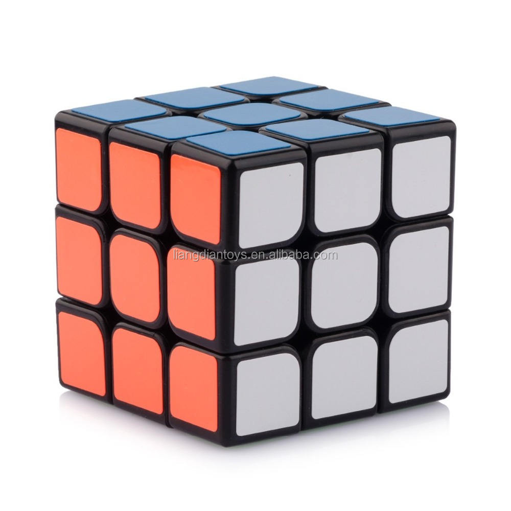 Smooth New 3 x 3 x 3 Black Speed Cube Puzzle