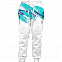 Custom Full Printing Polyester Colored Patterned Men Jogger Sweatpants