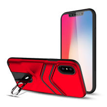 Saiboro factory direct supply 2 in 1 shockproof cases back cover ring for iPhone 8 8 plus case, stand case for iphone x 8 7 6 5