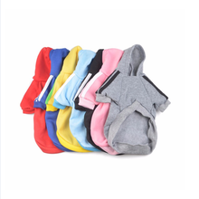 Sports Large Big Pet Dog Clothes Hot Selling Pure Color Coat Hoodie