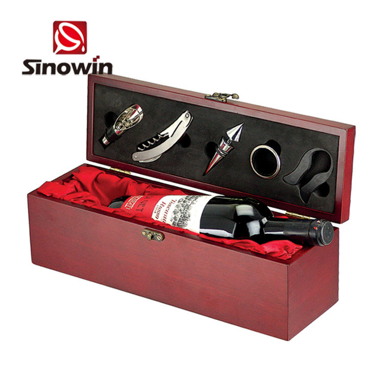 Accessories Gifts Crafts Red Wooded Corkscrew Openers Wine Box Set