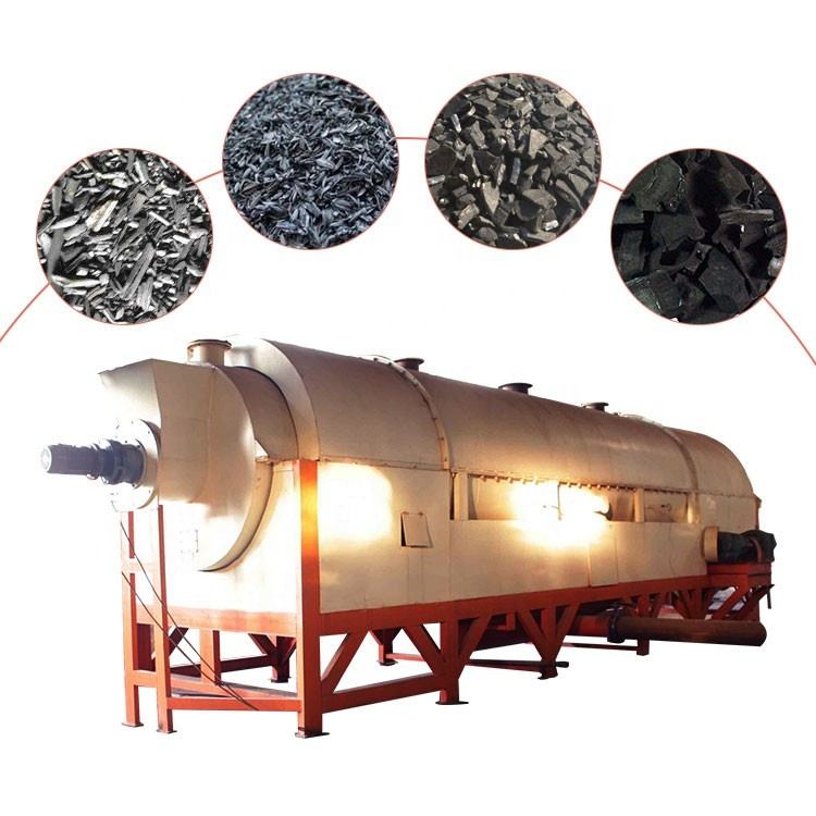 Factory supply rotary kiln for carbon charcoal making machinery in mexico