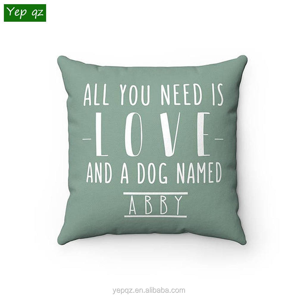 Professional factory supply high quality recycled soft 100% cotton pillow cushion with custom design printed