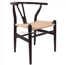 Solid wooden Y back dining cafe chair for restaurant chair