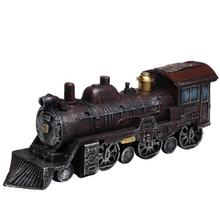 Antique Old Locomotive Model Collection Holiday Gifts Ornaments Home Decoration Pieces Vintage Resin Train Figurine