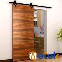 Modern design sliding wood barn door hardware for kitchen and bathroom